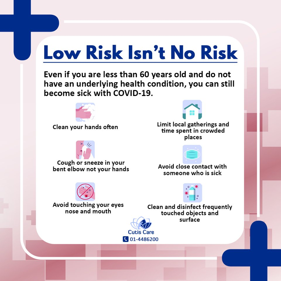 Low risk isn't no risk. Follow your national health advisory to protect yourself and others from COVID-19  #Corona #virus #Physicaldistance #skincaretips #transmission #beautycare #COVID_19 #socializing #pandemic #healthyskin #socialdistancing #cutiscare #dermatologist https://t.co/56hbhfKjkV