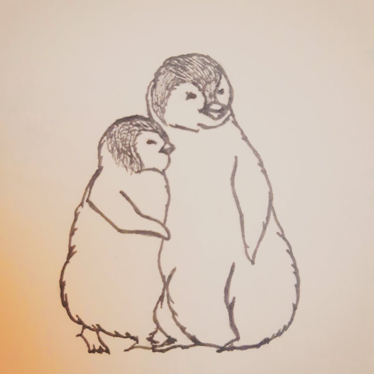 Just a little moment of warm rest is what we need.  #rest #simple #resting #penguin #warmth #warm #animal #nature #illustrations #illistration #drawing #artist #art #penart #freehand #contemporarydancer #moment #nature #scketch #イラスト #絵 #ペンギン #動物 #休日 #アート https://t.co/k0NMvH7iCo