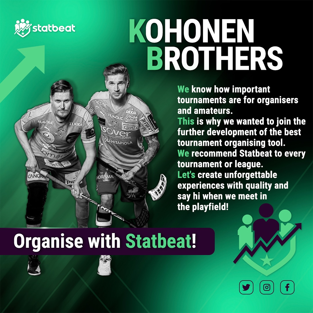 Exciting! 🤩 World champions Mika & Mikko Kohonen have joined Statbeat as co-owners and brand ambassadors 😎 #statbeat #worldchampions #kohonenbrothers https://t.co/uQ6pQHfAXo