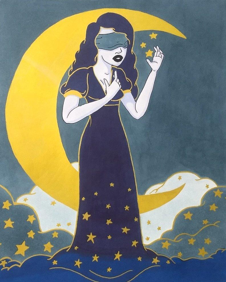 """Hope Remains""- 9/15/2020  #dgeekart #art #artist #stars #moon #blue #hope #beauty #faith https://t.co/8dHA3D6g6x"