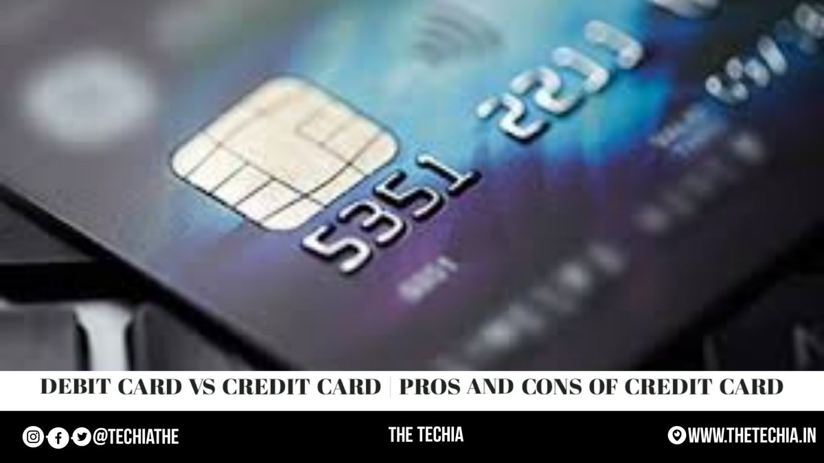 New Post Alert:- Debit Card Vs Credit Card | Pros and Cons of Credit Card Post: https://t.co/4MySm8zuUb Site: https://t.co/nOVnUQ1Uia #technews #tech #techno #technology #technologynews #quotes #quote  #banknifty #StayAlertToFraud #RT #fintech #finance #5G #WhatsApp #earthquake https://t.co/fNdTJQuoeL