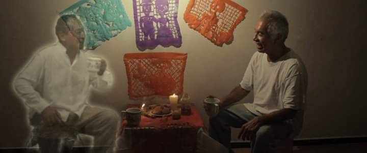 """Photo from the short film """"A tale for the day of the dead"""" directed by Julio C. Tadeo #shortfilm #film #movies  #Filmmaker #Filmmaking   #short #Twitter #film #FilmFestival #indiefilm #indie  #picture #photo #Tale #tradition #night    #fiction #love #fantasy #MoonLovers #Stars https://t.co/1SGD6WUeDT"""