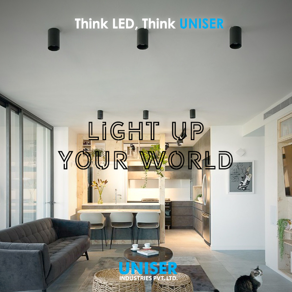 #LightUp your world with the finest range of LED Lights for your space. Illuminate your space to your style and let it be the talking point for everyone. #Illumination #LED #Light #Architecture #InteriorDesign #Home #Office #Villa #Hotel #Design #Modern #Style #Trend #Now #Uniser https://t.co/c3AtWqPds1