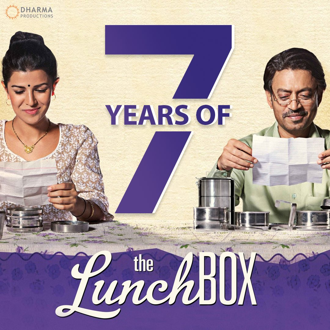 7 years of a mouth-watering story that left a beautiful taste in all the hearts!  #7YearsOfTheLunchbox @karanjohar @apoorvamehta18 #IrrfanKhan @Nawazuddin_S @NimratOfficial @riteshbatra https://t.co/uUTbL2XxAS