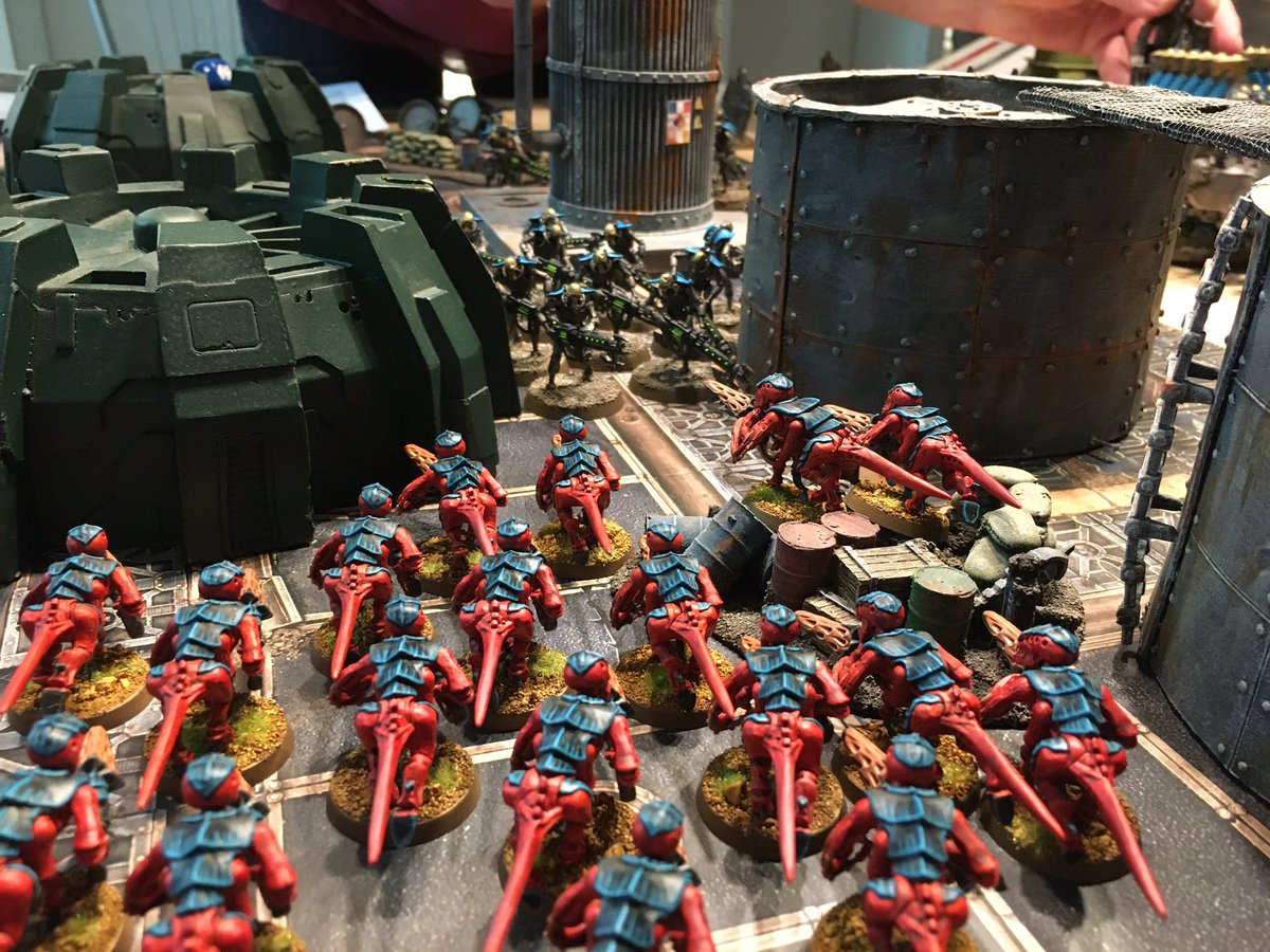 A couple of photos from our current crusade campaign. My #tyranids have won 3/4 battles so far and performed much better than expected. 9th edition #new40k is much fun, I'm loving it! https://t.co/HPUxwkRpLy