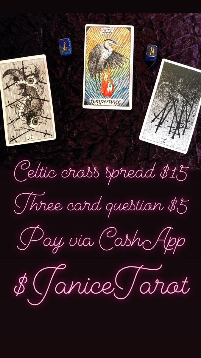 Three Card Tarot Card Reading for quick answers, 12 hour turn around! #tarot #readings  https://t.co/uDJEtoE5So https://t.co/7skGCaLRNt