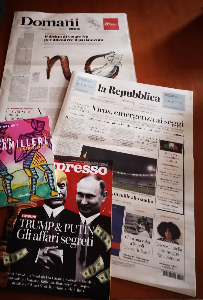 Finalmente domenica con @repubblica @domanigiornale ed @espressonline numero imperdibile! #AndreaCamilleri @pazzoperrep @PazzoPerDomani https://t.co/GLM1vBNgUt