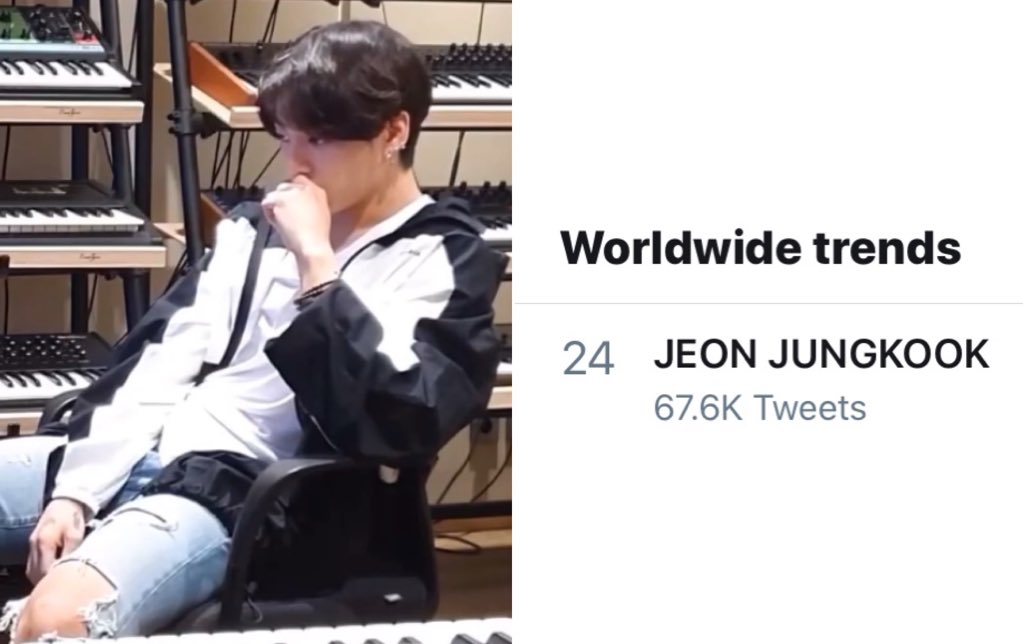 JEON JUNGKOOK is now trending Worldwide once again after his latest YouTube Log where he is working on music. https://t.co/m2SrH908Uv