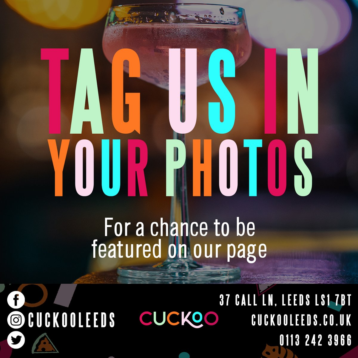 If you've enjoyed your visits with us then why not drop us a review on our Facebook page 🥰  Don't forget to tag us in any photos you've taken during your visits with us for a chance to be featured on our socials 📲  #Cuckoo #Leeds #CallLane #drinks #party #music #privatehire https://t.co/GNlqG31j8A