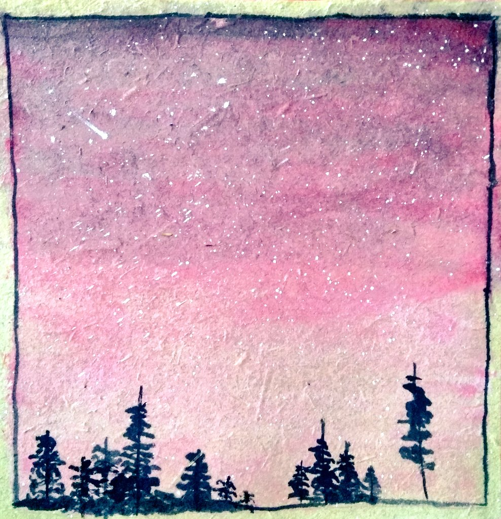 Tried watercolor painting today. The results aren't terrible, I think. #lockdownart