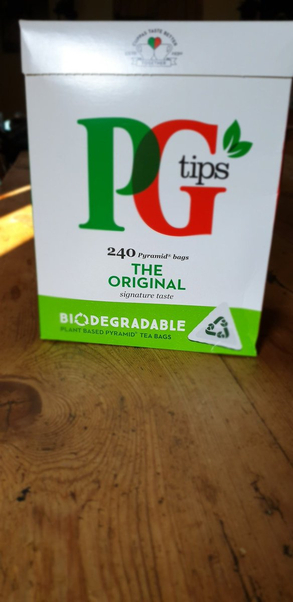 Thank you @PGtips for making biodegradable teabags. :-) https://t.co/CHv4VnZ9kf