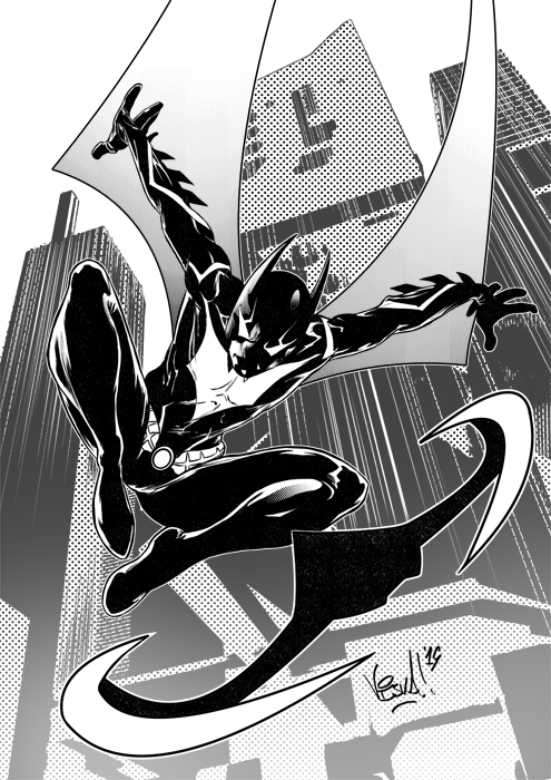 In some part of the world is still #BatmanDay ! Here something I did testing Batman Beyond for @DCComics  #Batman #BATMANDAY2020 #batmanbeyond https://t.co/0Gzem4WsjU