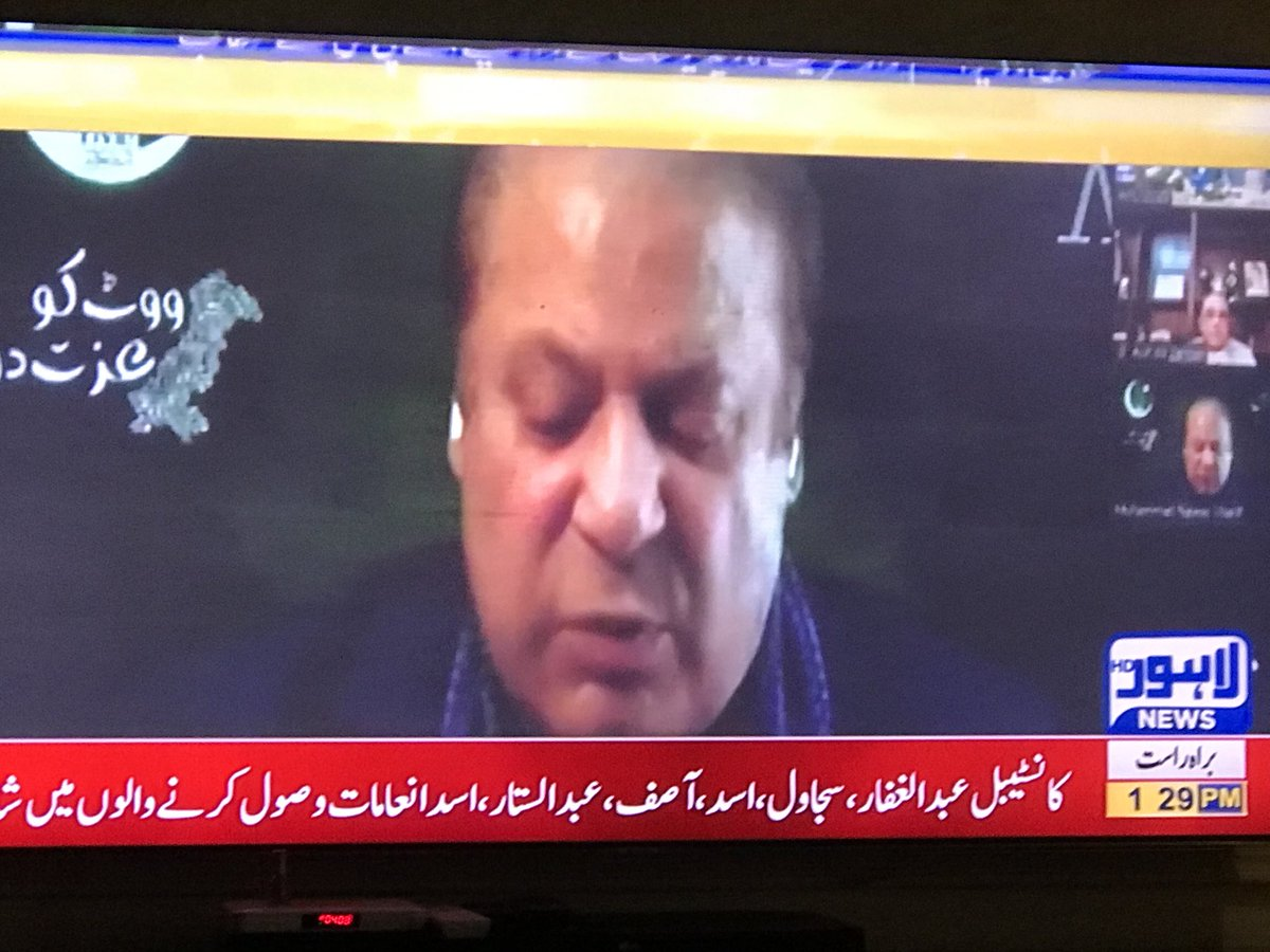 Regardless of some of the govts ministers threat to media to not to show nawaz Shareef speech ... media respond with integrity and courage to defeat the official threats — even Lahore HD a local popular channel is exercising its independence of editorial judgement — https://t.co/lOho1BqvgU
