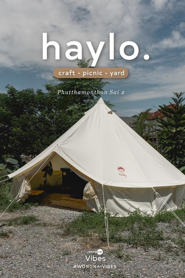 Haylo. เกาะกลางน้ำชานเมืองกรุงที่เราอยากชวนคุณไปปิกนิกกัน ใครชอบแคมปิงแต่ไม่มีเวลา แนะนำที่นี่เลย! 📍 Haylo. -Craft picnic yard ถนนพุทธมณฑลสาย 2 ซอย 21/1 ⏱ 10:00 - 19:30 น. (ปิดทุกวันจันทร์)  #wongnaivibes #รีวิวคาเฟ่ https://t.co/oIkV8nhhrk