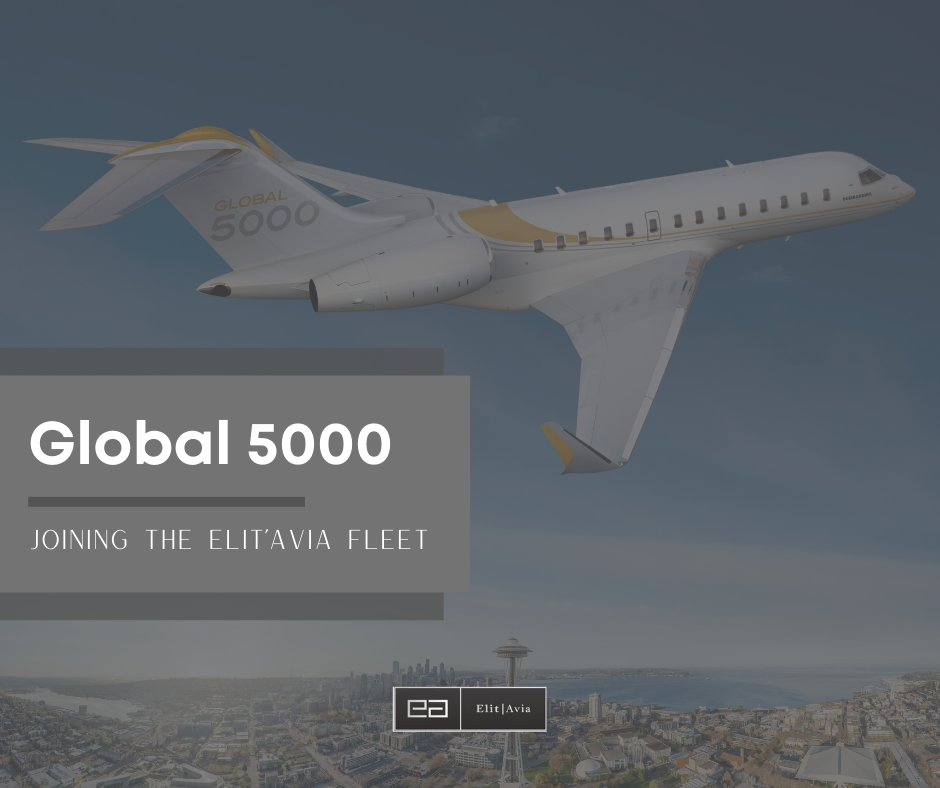 Miss the news? Elit'Avia is proud to welcome our newest aircraft, another Global 5000 joining our growing fleet!    Bringing this #G5000 into the family is a special moment for the team as we continue to grow in very challenging times. #privatejet #charter #aviation #aircraft https://t.co/cO9ithcp2m