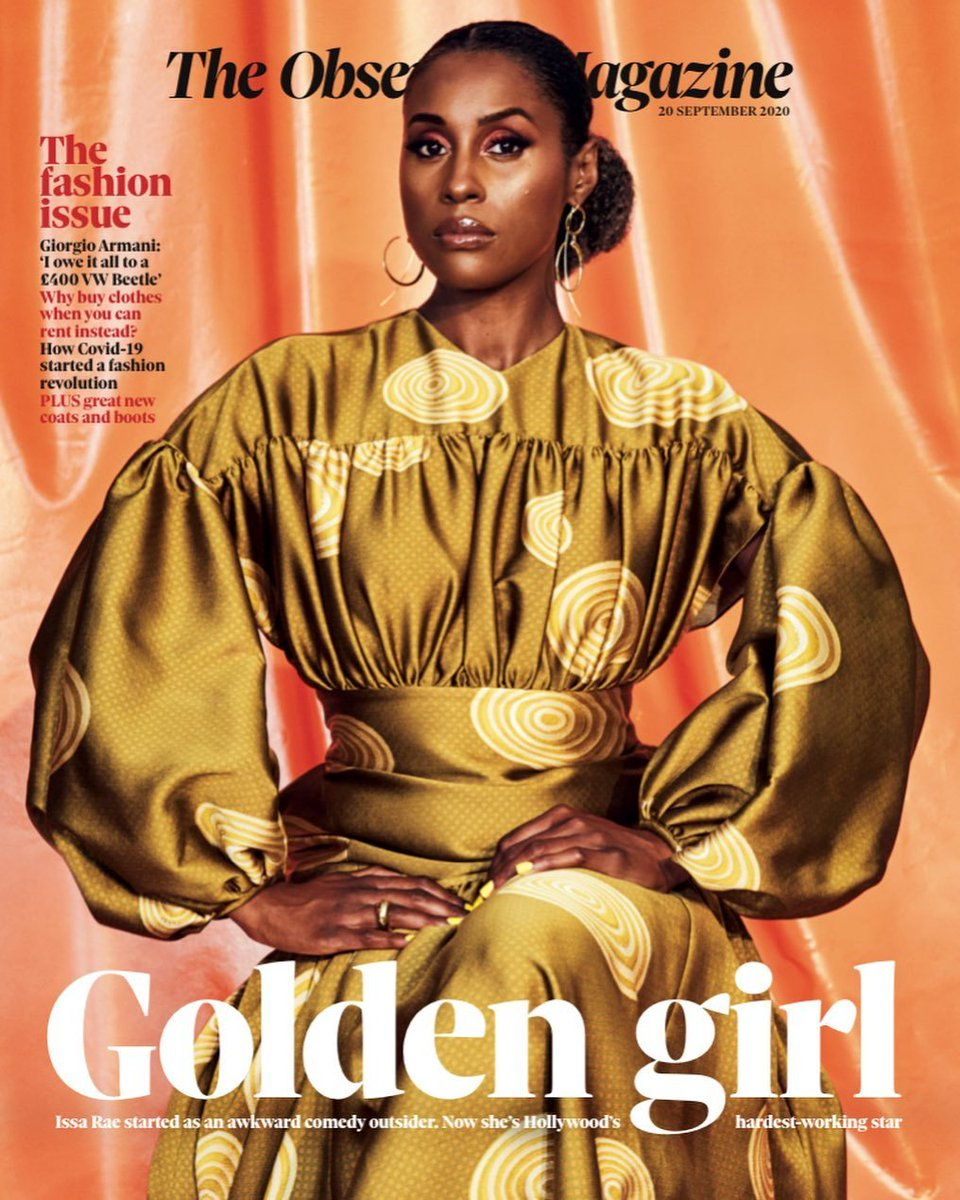 Interviewed @IssaRae for the @ObsMagazine cover + am thrilled to report she is the hilarious, humble babe of our collective dreams 🥺  We spoke about her upcoming HBO film Coastal Elites, being the booked and busiest, the importance of legacy and more 👇🏾  https://t.co/6o0wRgie8L https://t.co/MTgdkFh15n