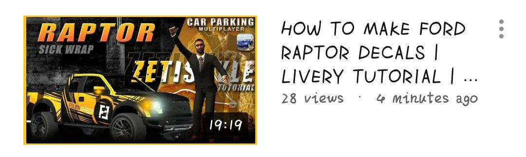 Car Parking Multiplayer 📌 | zeti • livery • #CarParkingMultiplayer #CPM #Gaming #Gameplay #Game #Openhood #Livery #Widebody #LibertyWalk #Tutorial #RustyDecals #YouTuber #YoutubeGaming #zeti #FordRaptor https://t.co/gxmBJr5YYD