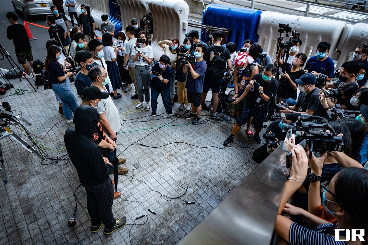 Family dependants of the 12 arrested Hong Kongers went to report their case at @hkpoliceforce HQ this afternoon, seeking assistance from the @hkpoliceforce. The reiterated their #threedemands to the government. - #save12hkyouths https://t.co/s587KYSw6M