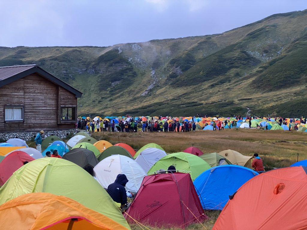 雷鳥沢キャンプ場が激混みトイレ行くのも行列です