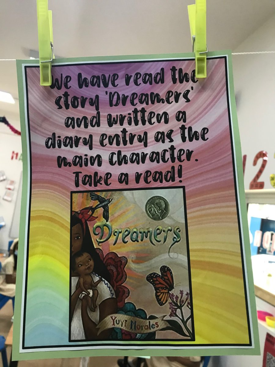 @yuyimorales, Y4 @HorizonDubaiUAE LOVED your book Dreamers so much that we used it as a stimulus for our writing. We wrote diary entries from your point of view. We hope you love them!    #WeAreDreamersToo #PowerfulLearners #WritingForAPurpose #soñadores https://t.co/xJZtuqM5jy