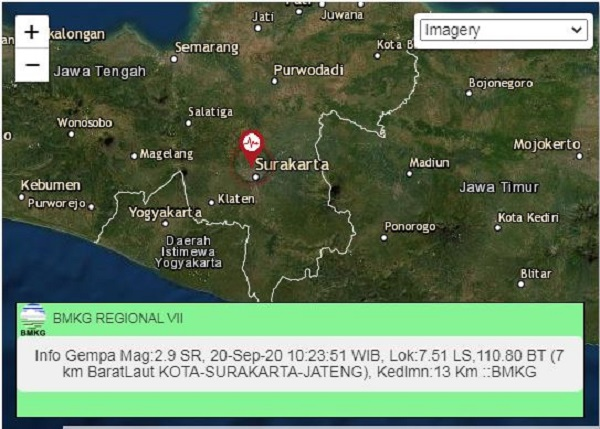 Gempa Darat 2,9 SR Guncang Solo, Dipastikan Tidak Terkait Merapi https://t.co/GPH6Q5m87R https://t.co/p3pophG83y