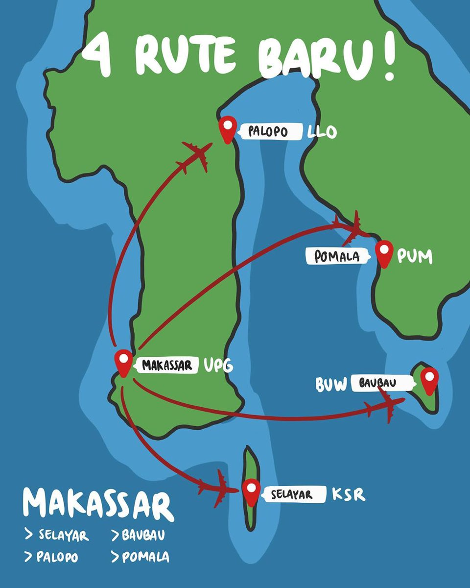 South Sulawesi off the beaten track anyone?  @Citilink has just opened four new routes from Makassar: Selayar, Luwu, Pomala, and Bau Bau.  Selayar is a gate to Takabonerate, a marine park and world's third-largest coral atoll in Selayar Regency, South Sulawesi. https://t.co/jvd9W3Kk0C