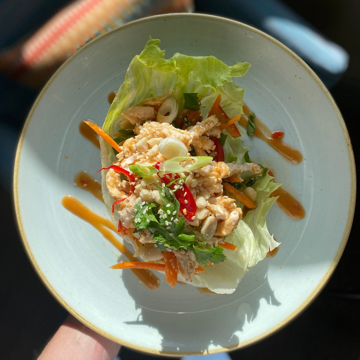 It's not all about the roasts. Start your lunch off with one of our favourites - bang bang peanut chicken salad 🍴   #CanburyArms #CanburyArmsKingston #KingstonUponThames #LadyKingston #MyKingston #KingstonPubs https://t.co/3eJaomOz5F