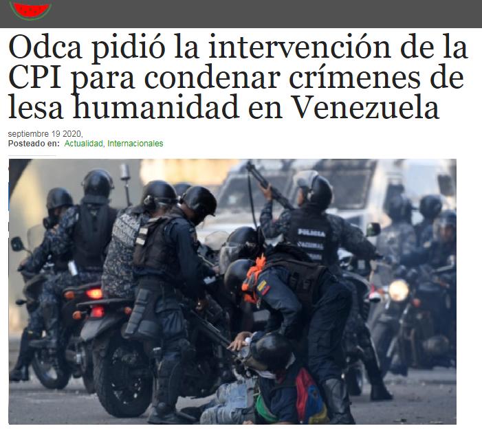 @ODCA pidió la intervención de la #CPI (@IntlCrimCourt) para condenar crímenes de lesa humanidad en Venezuela. https://t.co/ileX3Fql8N #Sep220 vía @la_patilla https://t.co/RFbwjEJjcJ