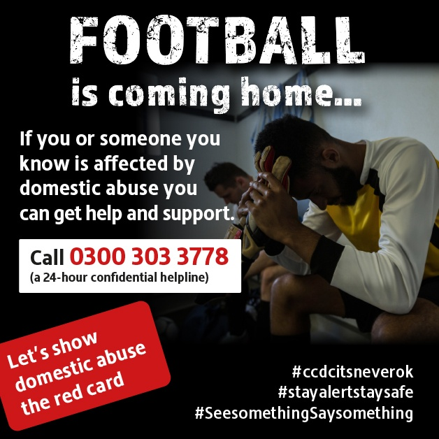 Football is coming home…  Tensions could increase within households during the football season and this will be heightened during the COVID crisis.   If you are suffering from domestic abuse you can get help and support now…  Call New Era on 0300 303 3778 https://t.co/BaCl25DeWV