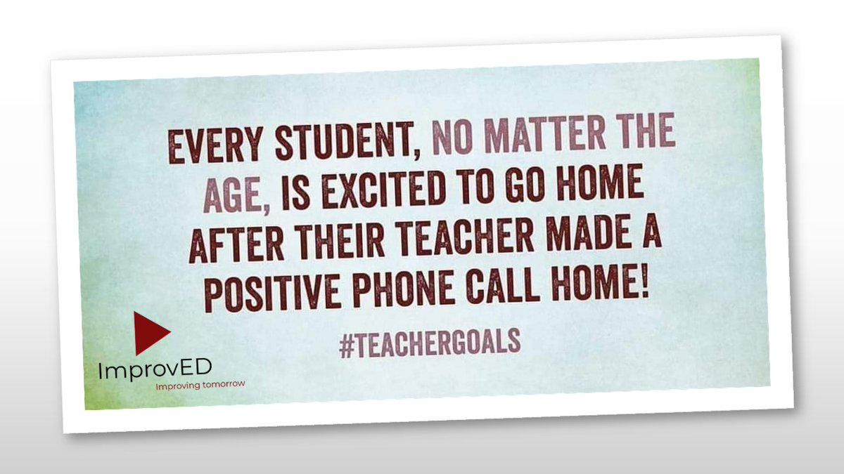 Like I Follow I Share - ImprovED LLC    Do you still make phone calls home? How do you communicate with your parents? How do you make your students happy?   #makeaconnection #postivereinforcement #teachergoals #schoolimprovement #improvED #education #makememories https://t.co/nwQFPpAvwM