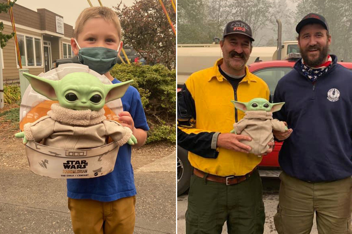 5-year-old gifts Baby Yoda doll to 'lonely' firefighters on wildfire front lines https://t.co/wXp3vPn3D5 https://t.co/F4fIk3h2Ct
