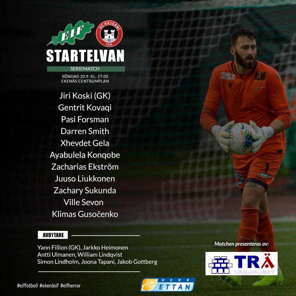 Så här öppnar vi den 150:de matchen i herrettan mot @ACKajaani klockan 17:00 på Ekenäs centrumplan https://t.co/LFLg6P35Db