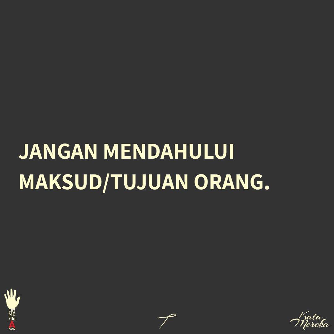 #katamereka #indonesia #hikmah #nilai #value #moral #kehidupan #sosial #intrapersonal #interpersonal  #introvert #extrovert #ambivert #personal #diri #wisdom #inspirasi #sharing #share #thoughtoftheday #quote #feeling #pikiran #perasaan #lambe #weekend https://t.co/ocxvgrzKlW