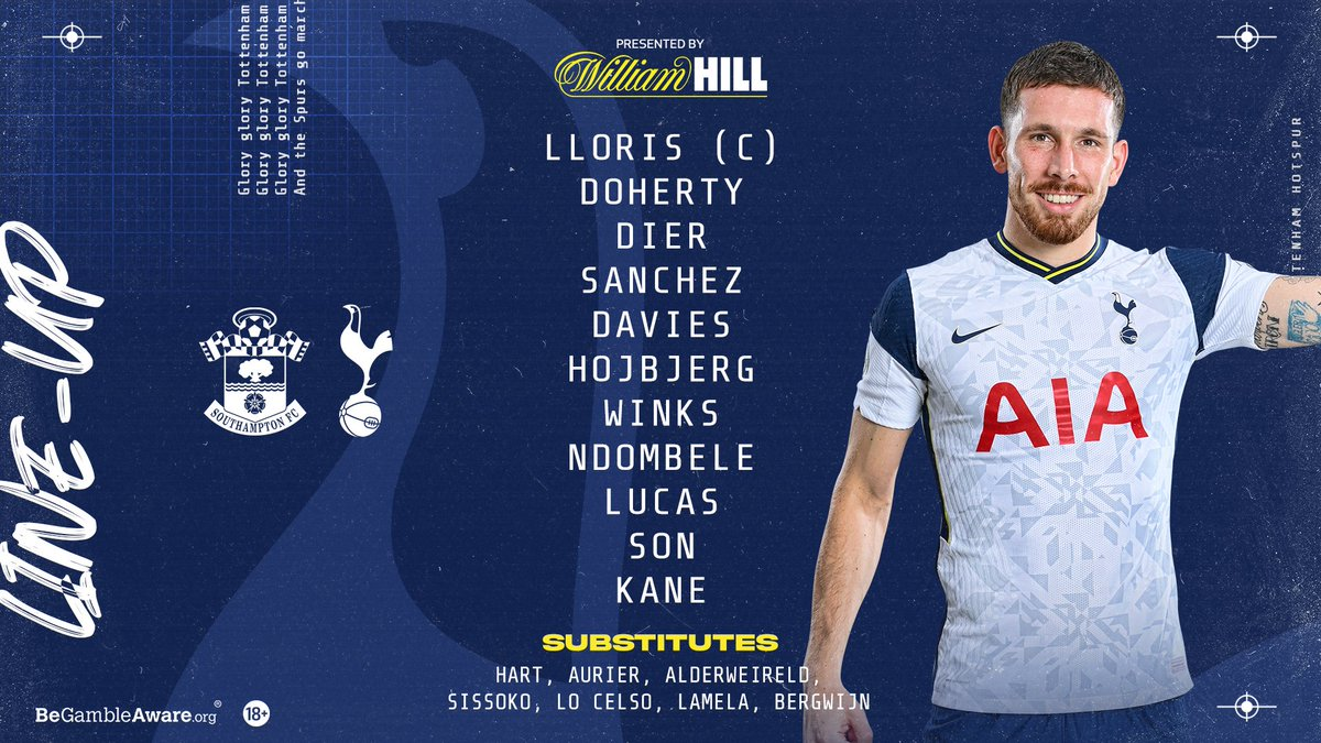 No Dele for Spurs but Ndombele starts! ⚽️  #COYS #THFC #Spurs #Tottenham https://t.co/HE0g0ly8dD