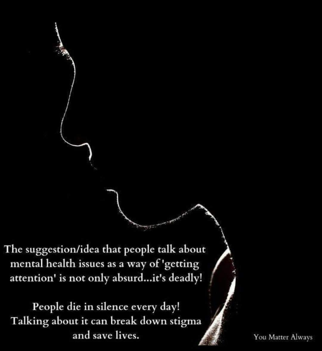 Some messages are worth repeating 💜💜💜 #YouMatterAlways #endstigma #noplaceformentalhealthstigma #stopthestigma #stigmatosupport #stigmafree #takeastand #itsokaytonotbeokay #itsneverokaytodiscriminate https://t.co/lhDJjs4Hcf