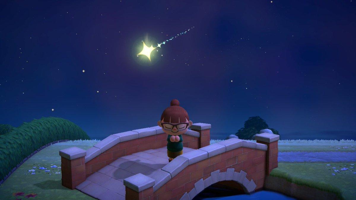 フーコいないのに流れ星 あつ森