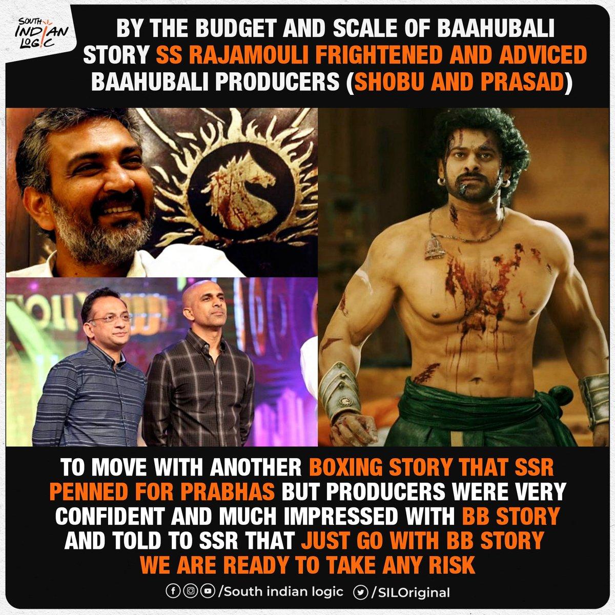 That's how india's biggest blockbuster happened🔥❤️ #Baahubali #ssrajamouli #Prabhas @Shobu_ #PrasadDevineni
