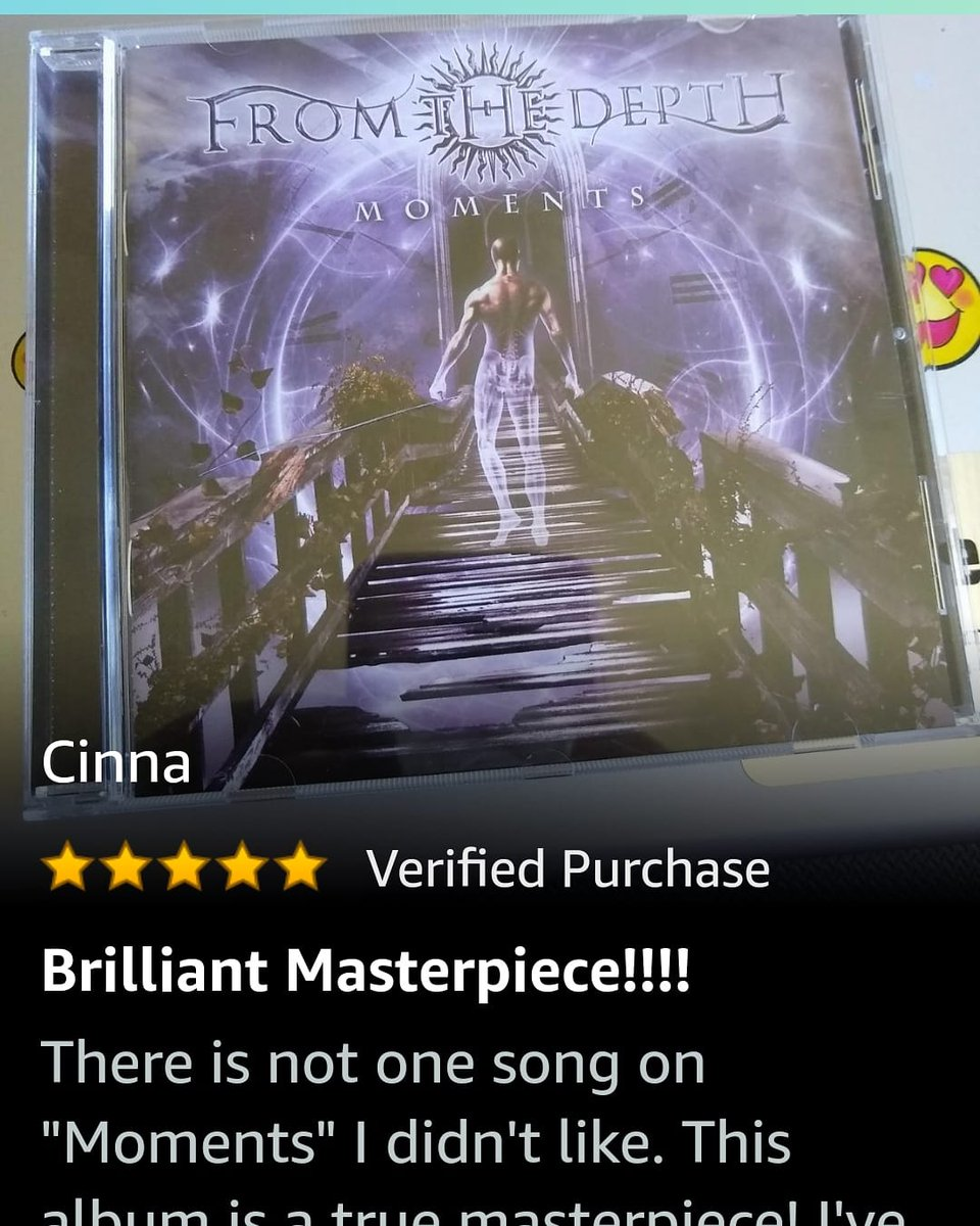My five-star #Amazon review of 'Moments' album by @OfficialFTD love this CD!♥️💿🔥🤘