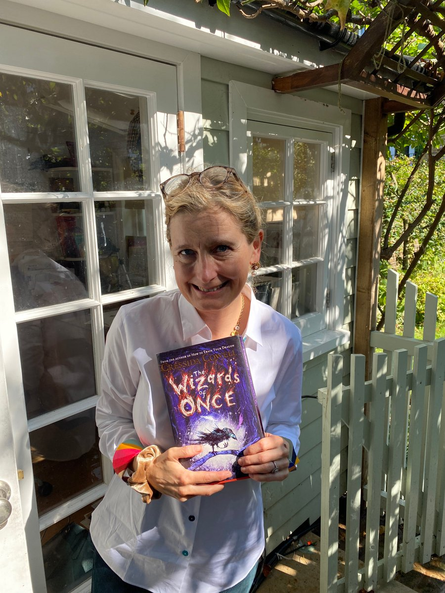 Happy Sunday everyone! Am reading Wizards of Once from my writing shed and the first half of Chapter 4 is here: https://t.co/Jn1dqXbk92 previous chapters and How to Train Your Dragon here: https://t.co/7jYgWrPo2f #unitedbybooks #booktrusthometime https://t.co/t9B3Jw4Btv