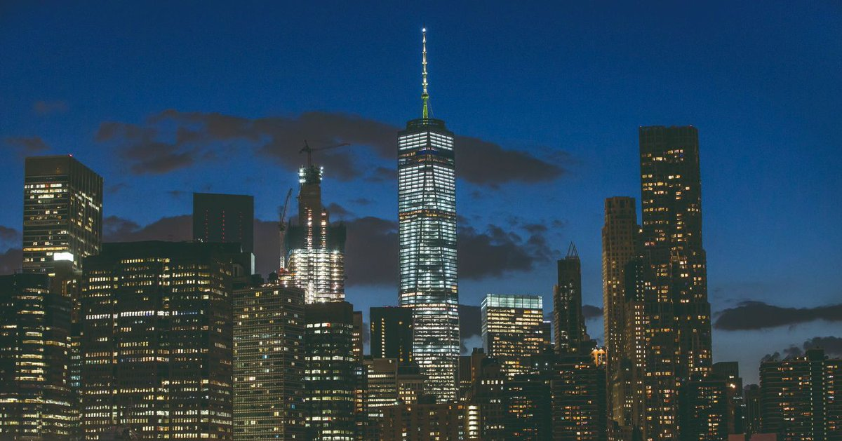 #NYCGoesGreen by lighting the #OneWTC, #OneFiveOne and #OneBryantPark spires tonight to kickoff #ClimateWeek.