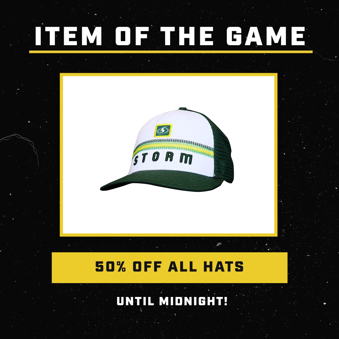 😎 ITEM OF THE GAME 😎 Get 50% off all hats! 🙌 Shop here ⬇️ seattlestormteamshop.com/collections/ha…