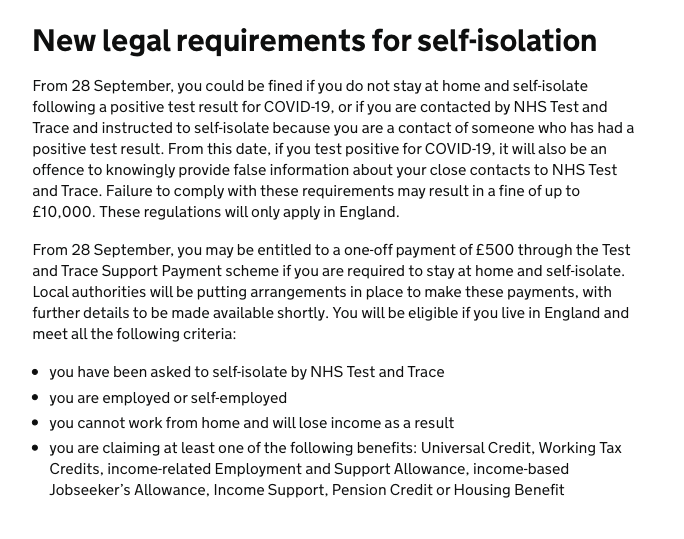 Aha, £10,000 fines for breaching self-isolation rules. I have some thoughts on that. https://t.co/dUXNnnpxlC