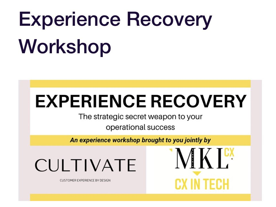 https://t.co/vzSnXIRHjm  Join us!! #signup #workshop #customerrecovery #CustomerService #customersupport #cxday #cxday20 @MKLInnovation @CXPA_Assoc https://t.co/gJ9tLgFgqI