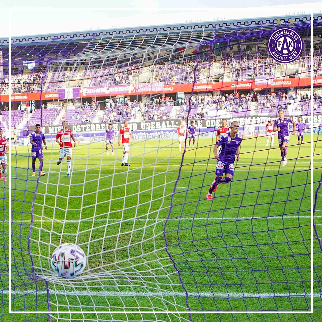 ✌️:☝️-Sieg im ersten Bundesliga-Heimspiel der Saison! Monschein trifft per Elfer-Doppelpack! Danke für den tollen Support unserer 3.000 Abonnenten im Stadion - dieser Sieg gehört unseren Fans! 💜💜💜💜  _________________________ #faklive #faksvr https://t.co/J2I0nvPibI