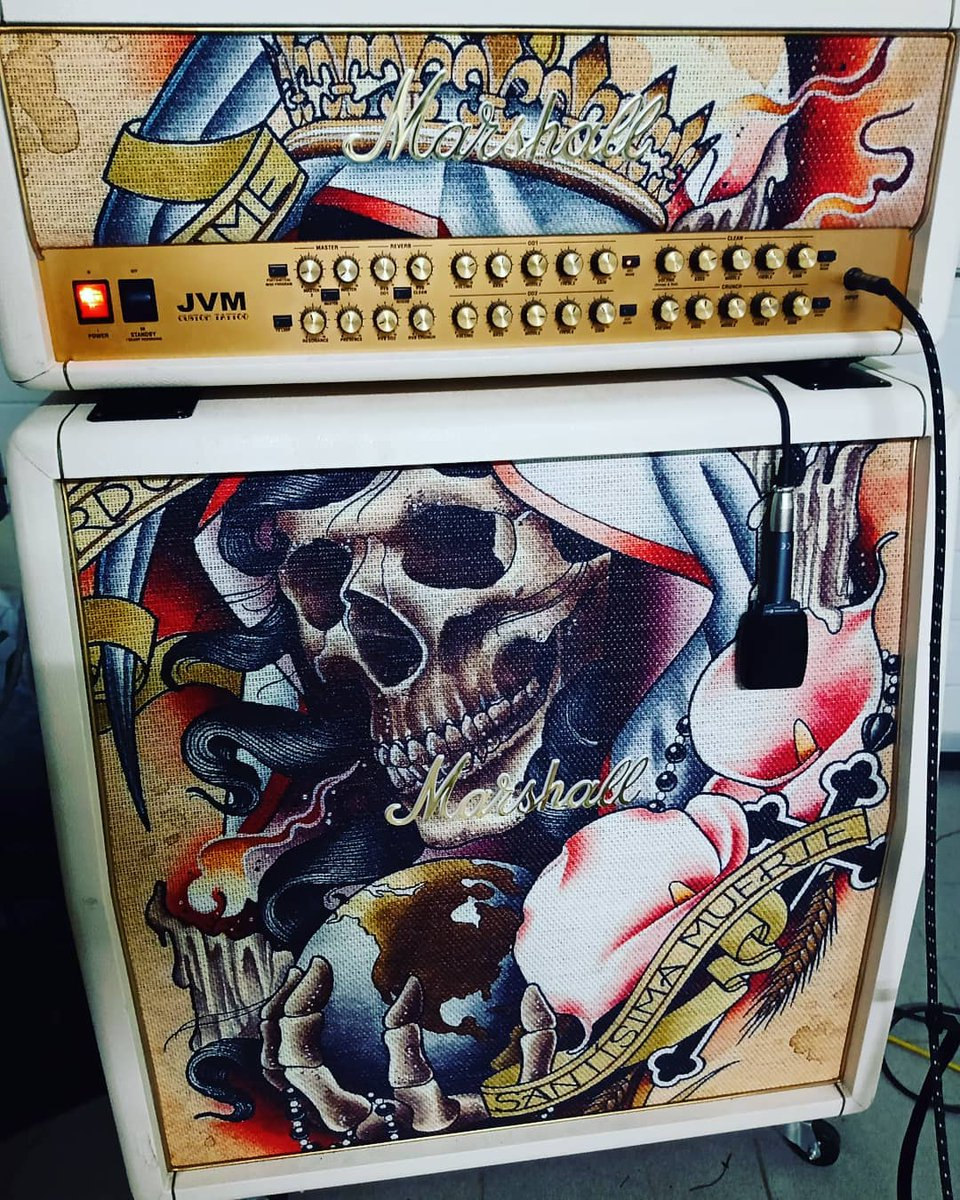 Spotted - A rare JVM Custom Tattoo model 👀👌  What would your dream amp look like?  📷: roxygenmusic #liveformusic https://t.co/Y6OCVS9Wun