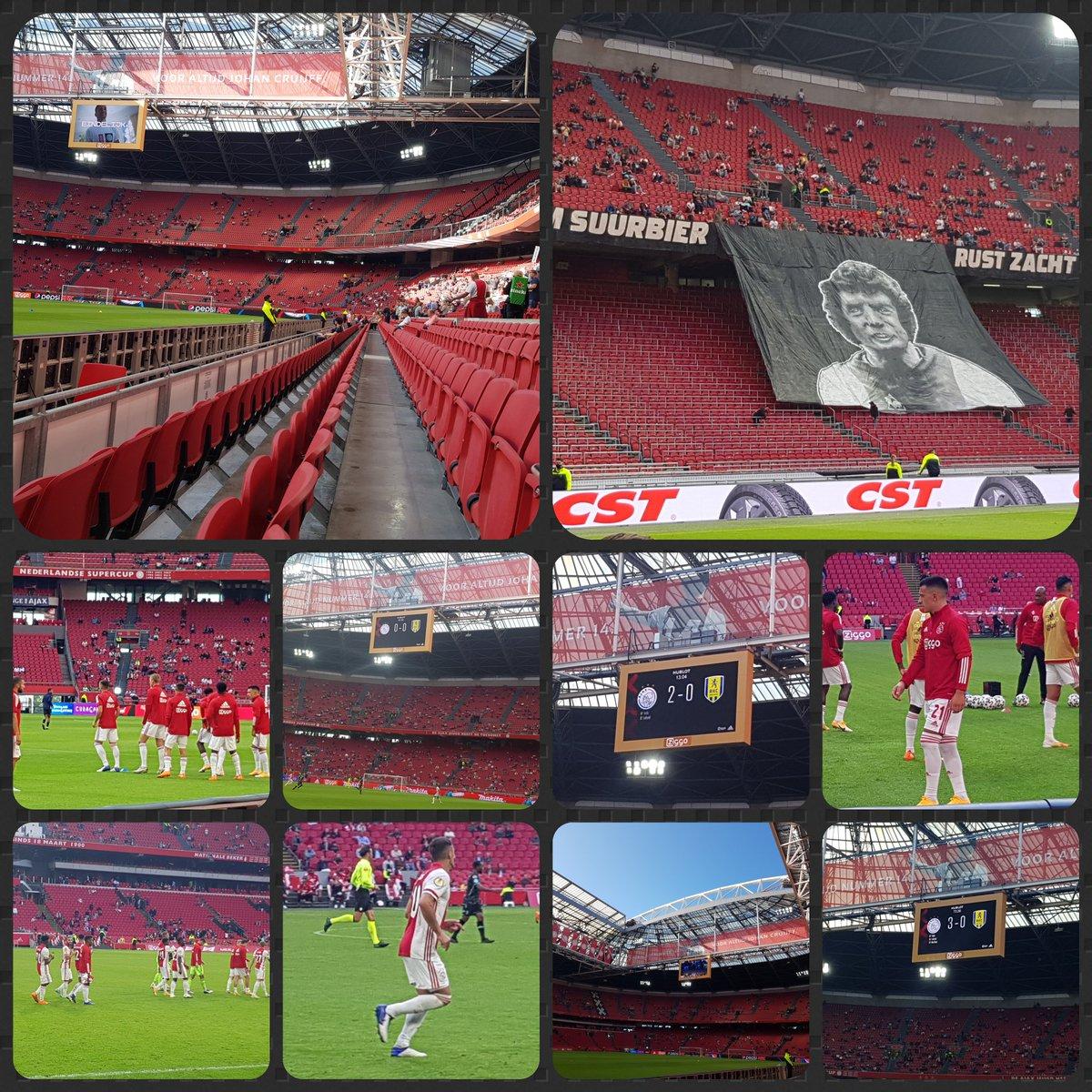 Anders..... maar blij dat we weer mogen.  #Trots #Ajax #Arena https://t.co/7DNtZG4HNl