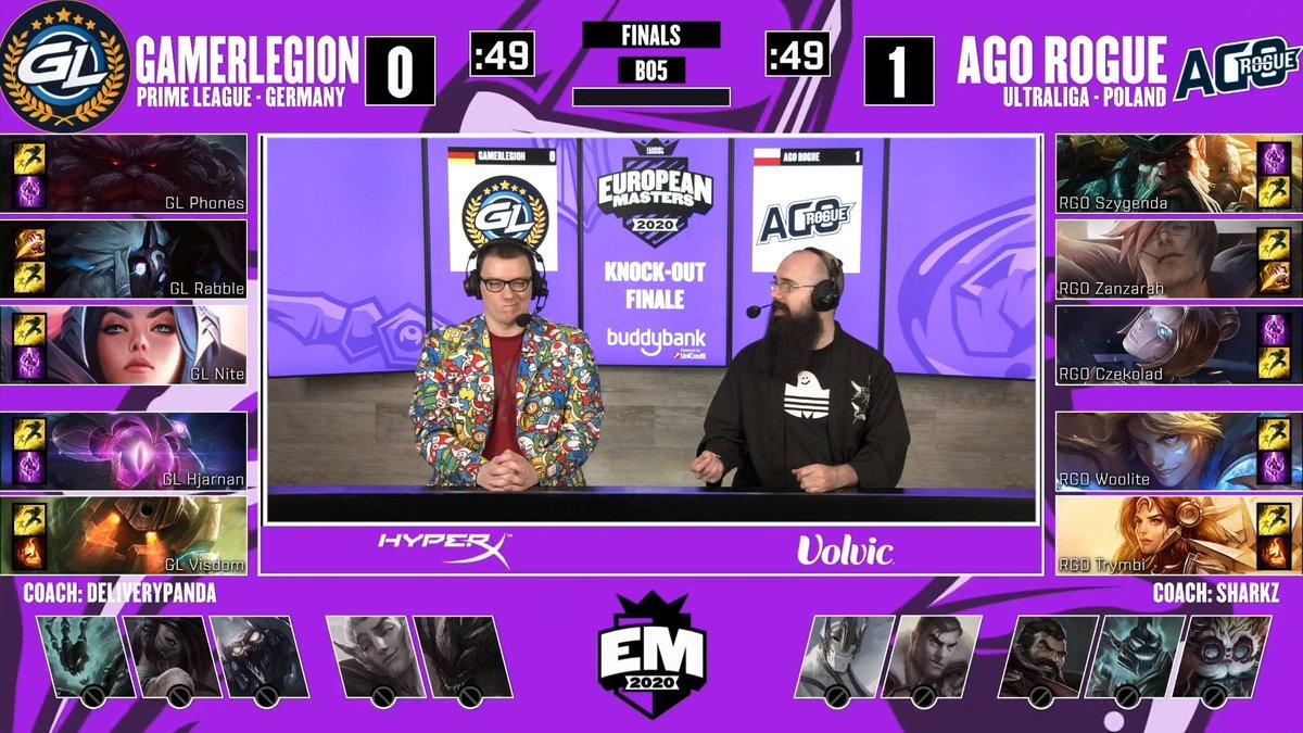 Inizia adesso, in diretta su https://t.co/NwzYiDBmaR, la seconda partita della Finale tra @GamerLegion e @agorogue.  #EUMasters  @mybuddybank https://t.co/m91ZJ7MI0k