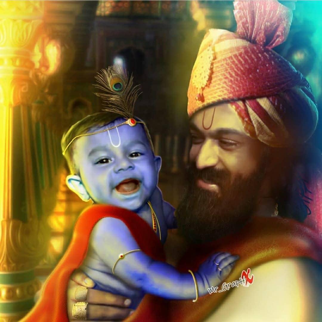 Best Photo Manipulation ❤️💖 #thenameisyash  #KGFChapter2  @TheNameIsYash  @RadhikaPandit7 https://t.co/vazARfqOQk
