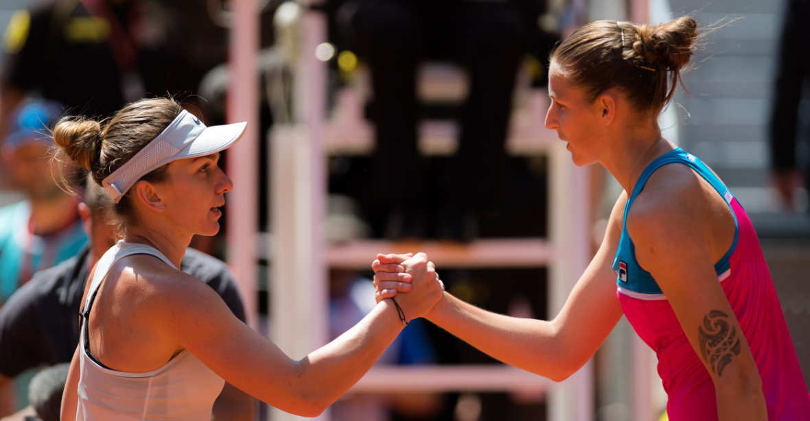 Former World No.1s @Simona_Halep and @KaPliskova have met nine times at Tour level and twice in the Fed Cup.  They will meet again in the @InteBNLdItalia final.  Rivalry Record --> https://t.co/Uxb0allV26 https://t.co/9GT1Janf2U