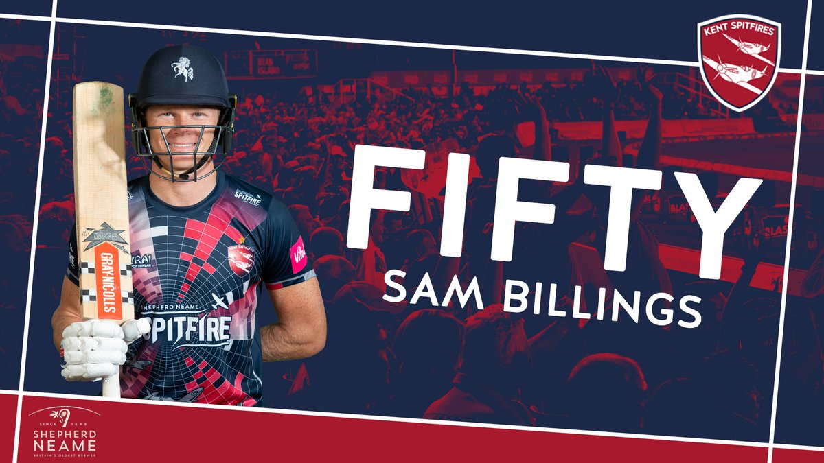 Bilbo reaches 5⃣0⃣ 👊  ⚪️ 32 balls 💥 Six fours  We're 151/5 after 17.4 overs  LIVE Match Centre ➡️ https://t.co/lzn78Xxjg5 #SuperKent https://t.co/qxGaGdZCAE